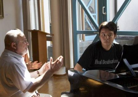 Professor Felix Gottlieb mit Schüler