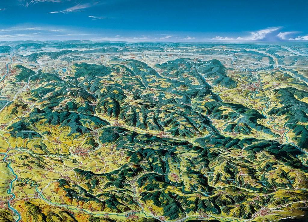 Panoramakarte Naturpark Schwäbisch-Fränkischer Wald