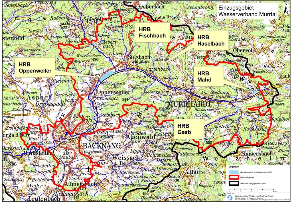 Wasserverband Murrtal - Gebietsabgrenzung