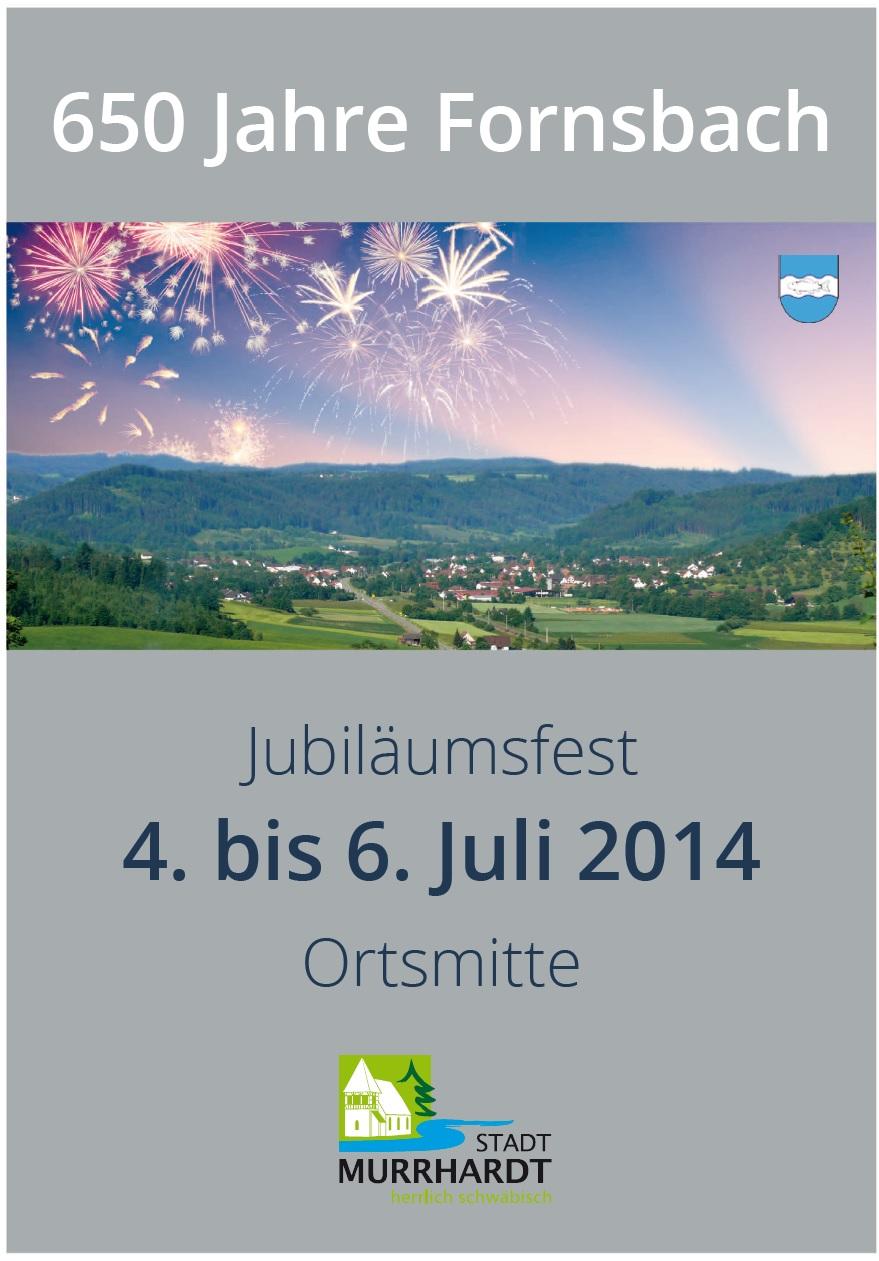 Plakat Jubiläumsfest Fornsbach