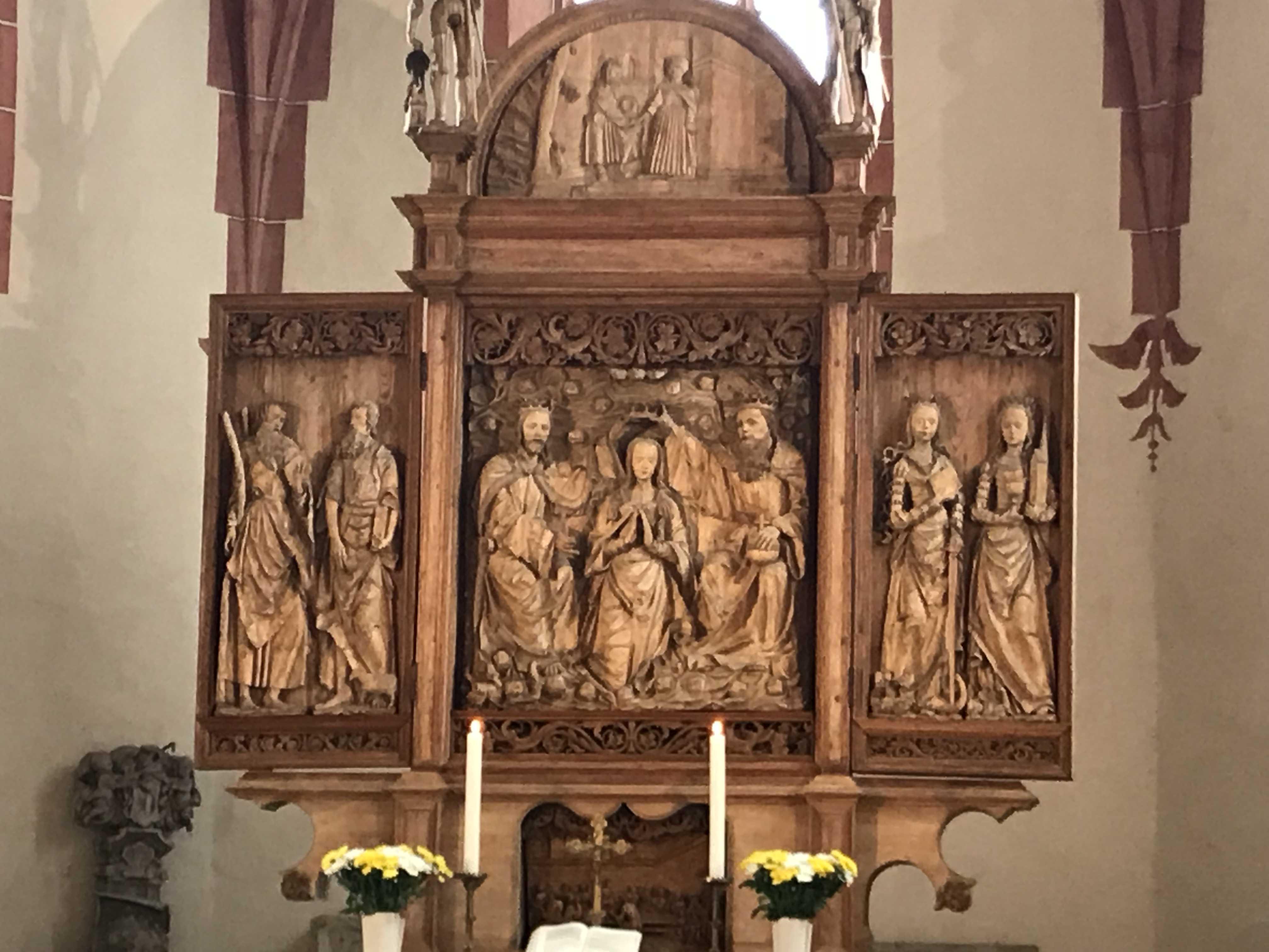 Altar in der Marienkirche Rötha. (Foto: Stadt Murrhardt)