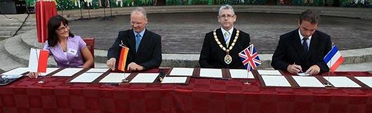 Rabka-Zdroj - Unterschrift Partnerschaftsvertrag