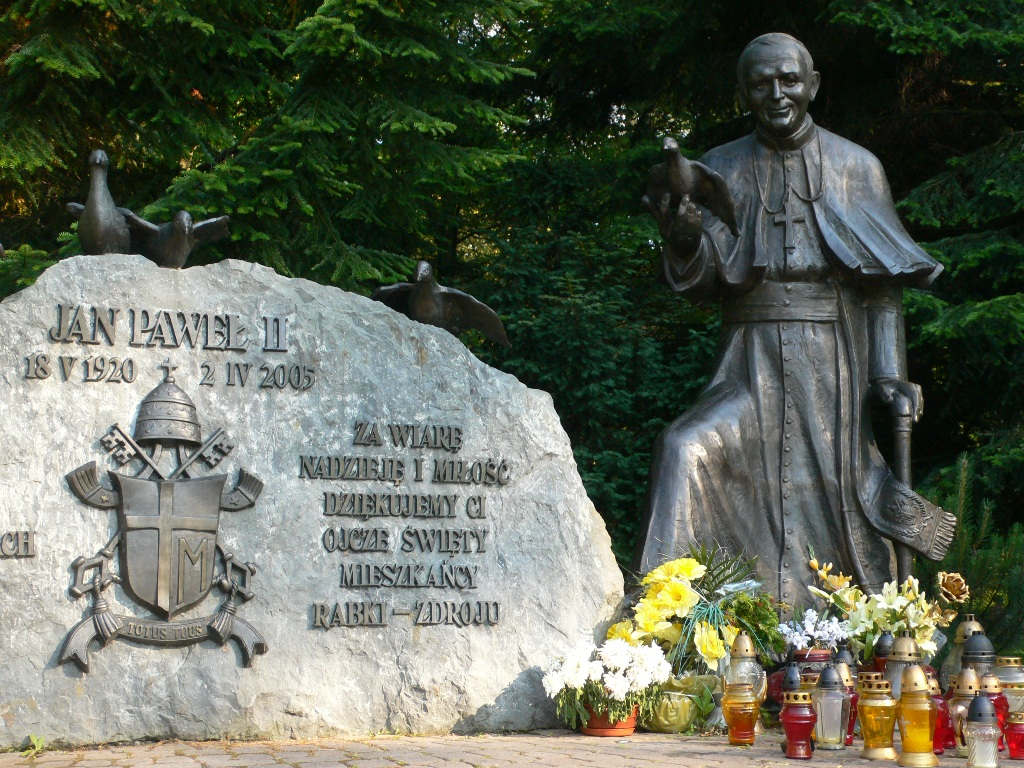 Rabka Denkmal Johannes-Paul-II