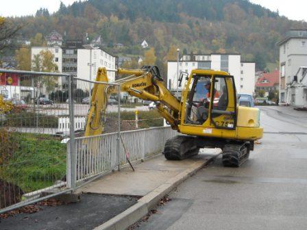Zweckverband Bauhof, Baggerarbeiten
