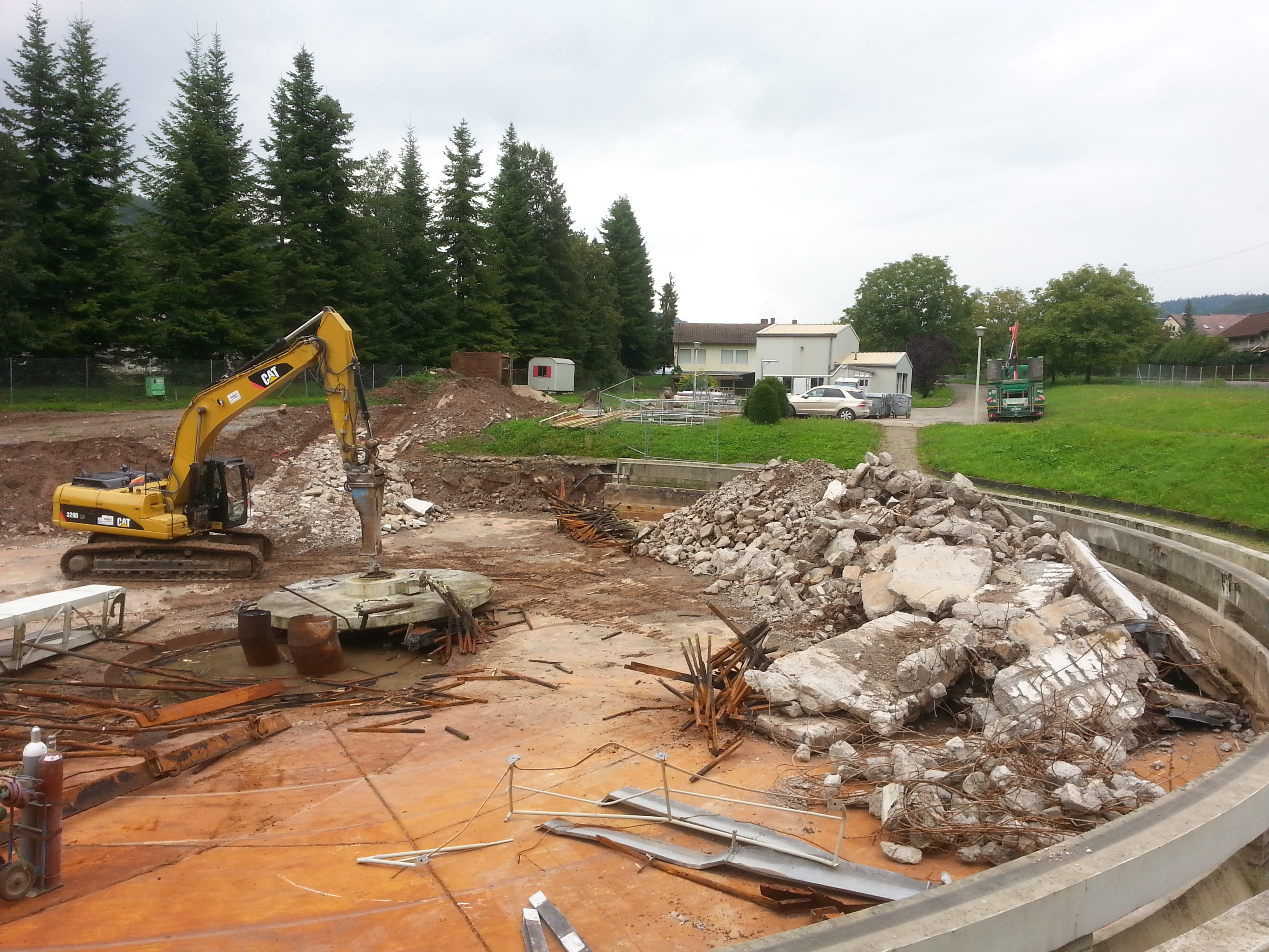 Bauarbeiten Klaranlage
