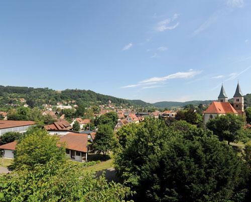 Blick auf Murrhardt und die herrlich grüne Landschaft