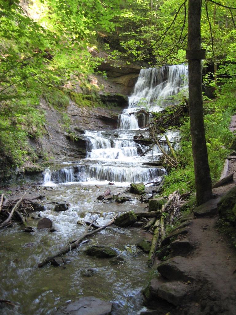 Hörschbachschlucht - hinterer Wasserfall