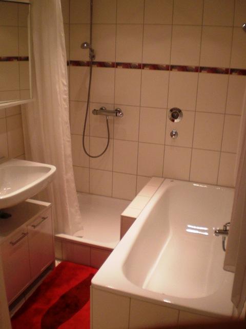 Bad mit Badewanne,Dusche und Waschmaschine
