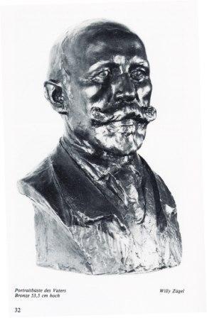 Willy Zügel - Büste des Vaters