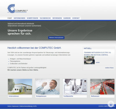 Startseite Internet-Präsenz COMPUTEC GmbH