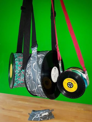 Schallplatten-Umhängetasche