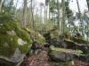 Zahlreiche Felsbrocken am Riesberg kennzeichnen das Felsenmeer in Murrhardt (c) Schwäbischer Wald
