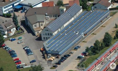 Luftbild der Firma Friedrich Gampper KG