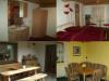 Links oben: Bad Zeile / rechts oben: Doppelbett / links unten: Terrasse / rechts unten: separater Aufenthaltsraum