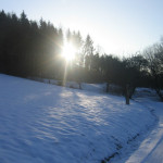 Winter: Spaziergang am Linderst