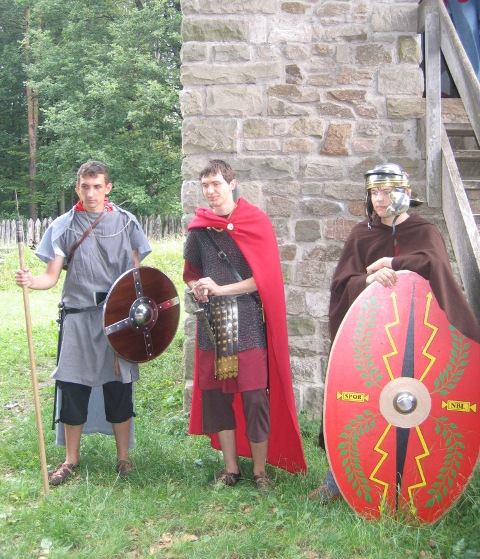Limesturm mit Römern
