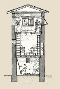 Zeichnung Limes Wachturm