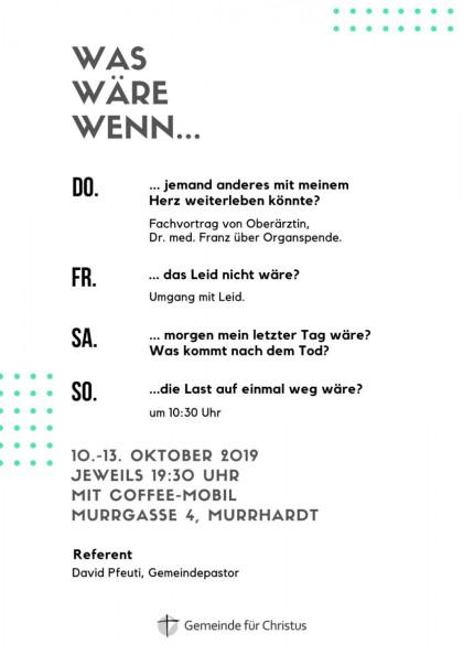 Vortragsreihe Murrhardt GfC 2
