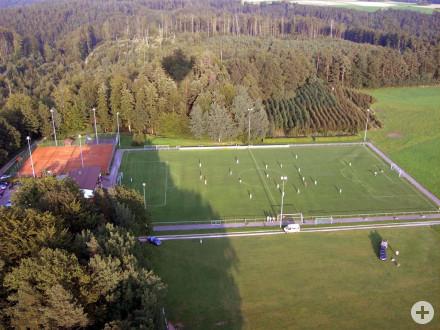 Die Sportanlage der Spvgg Kirchenkirnberg