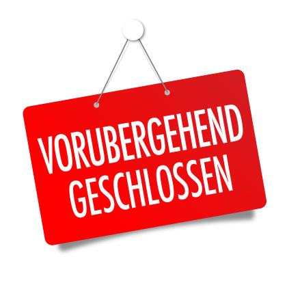 Schild vorübergehend geschlossen ©Brad Pict - stock.adobe.com