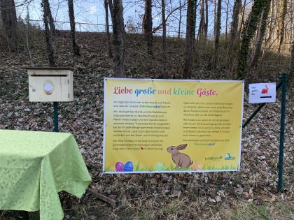 Start und Ende des Osterhasenpfades in Murrhardt