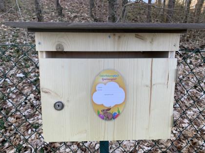 Briefkasten am Ende des Osterhasenpfades
