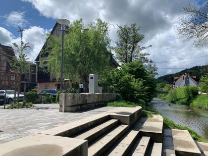 Fahrrad Rastplatz und Radservicestation am Murrufer in Murrhardt