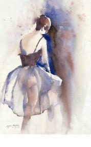 Trude Schüle Aquarell Tänzerin