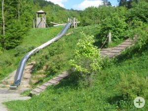 Waldsee-Spielplätze - Die große obere Rutsche